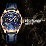 Load image into Gallery viewer, 8078M | Mechanical Men Watch | Leather Band-megalith watch