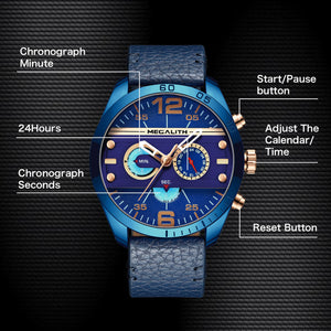 8072M | Quartz Men Watch | Leather Band