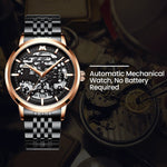 Load image into Gallery viewer, 8204M | Mechanical Men Watch | Stainless Steel Band-megalith watch