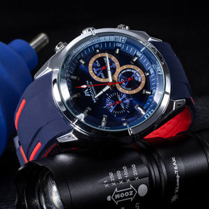 8049M | Quartz Men Watch | Rubber Band