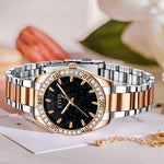 Load image into Gallery viewer, 8118C | Quartz Women Watch | Stainless steel Band-megalith watch