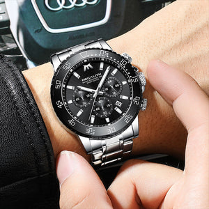 8218M | Quartz Men Watch | Stainless Steel Band-megalith watch