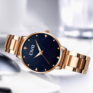 8002C | Quartz Women Watch | Stainless Steel Band-megalith watch