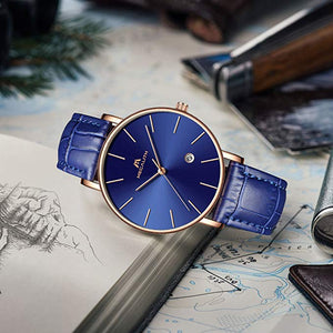 8030M | Quartz Men Watch | Leather Band-megalith watch