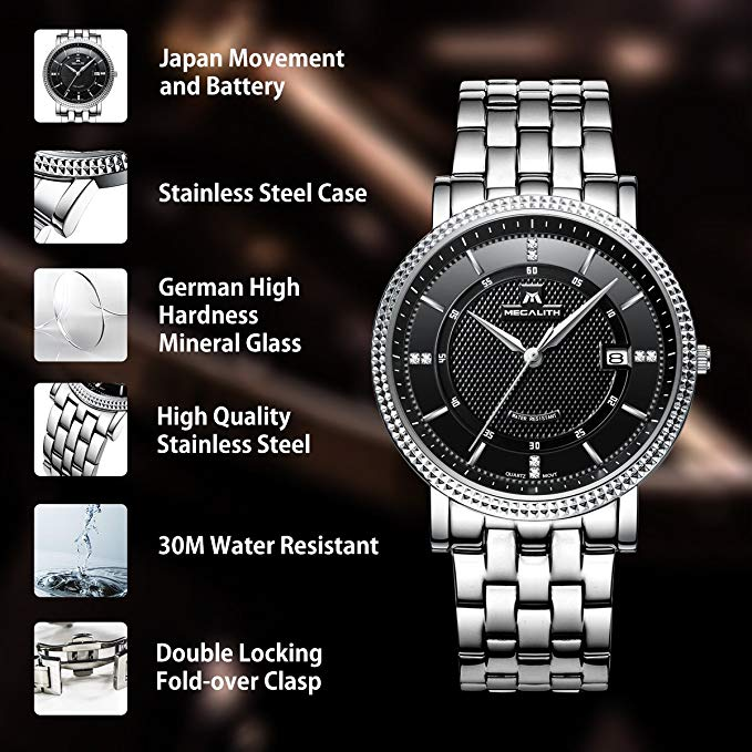 2004M | Quartz Men Watch | Stainless Steel Band-megalith watch