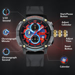 Load image into Gallery viewer, 8231M | Quartz Men Watch | Rubber Band-megalith watch