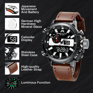 8229M | Quartz Men Watch | Leather Band-megalith watch