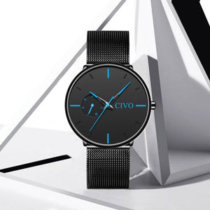 8052C | Quartz Men Watch | Mesh Band-megalith watch