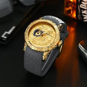 8041M | Mechanical Men Watch | Rubber Band-megalith watch