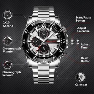 8232M | Quartz Men Watch | Stainless Steel Band-megalith watch