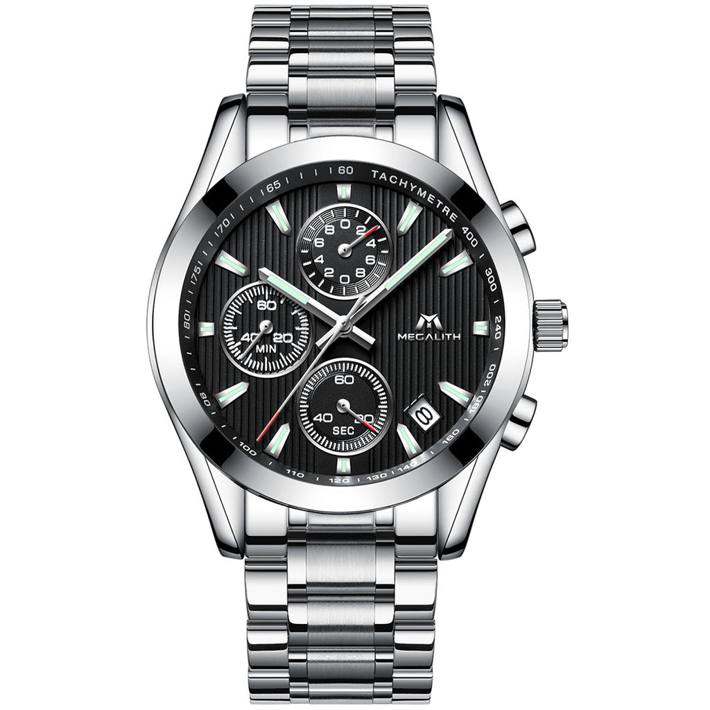 0098M | Quartz Men Watch | Stainless Steel Band-megalith watch