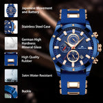 Load image into Gallery viewer, 0140M | Quartz Men Watch | Rubber Band-megalith watch