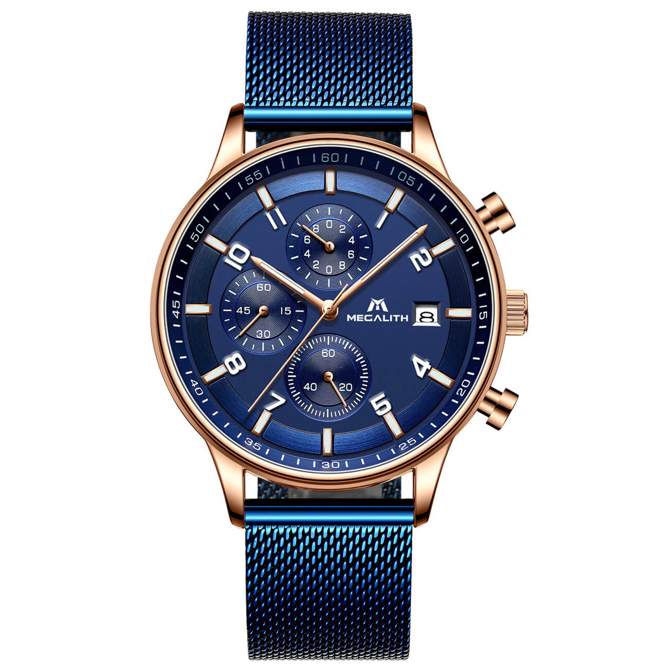 8003M | Quartz Men Watch | Mesh Band