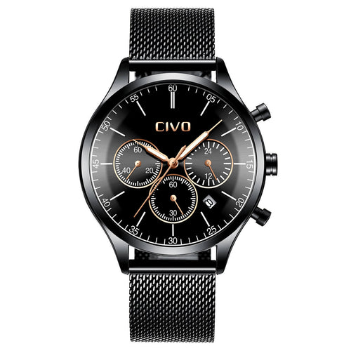 8016C | Quartz Men Watch | Mesh Band