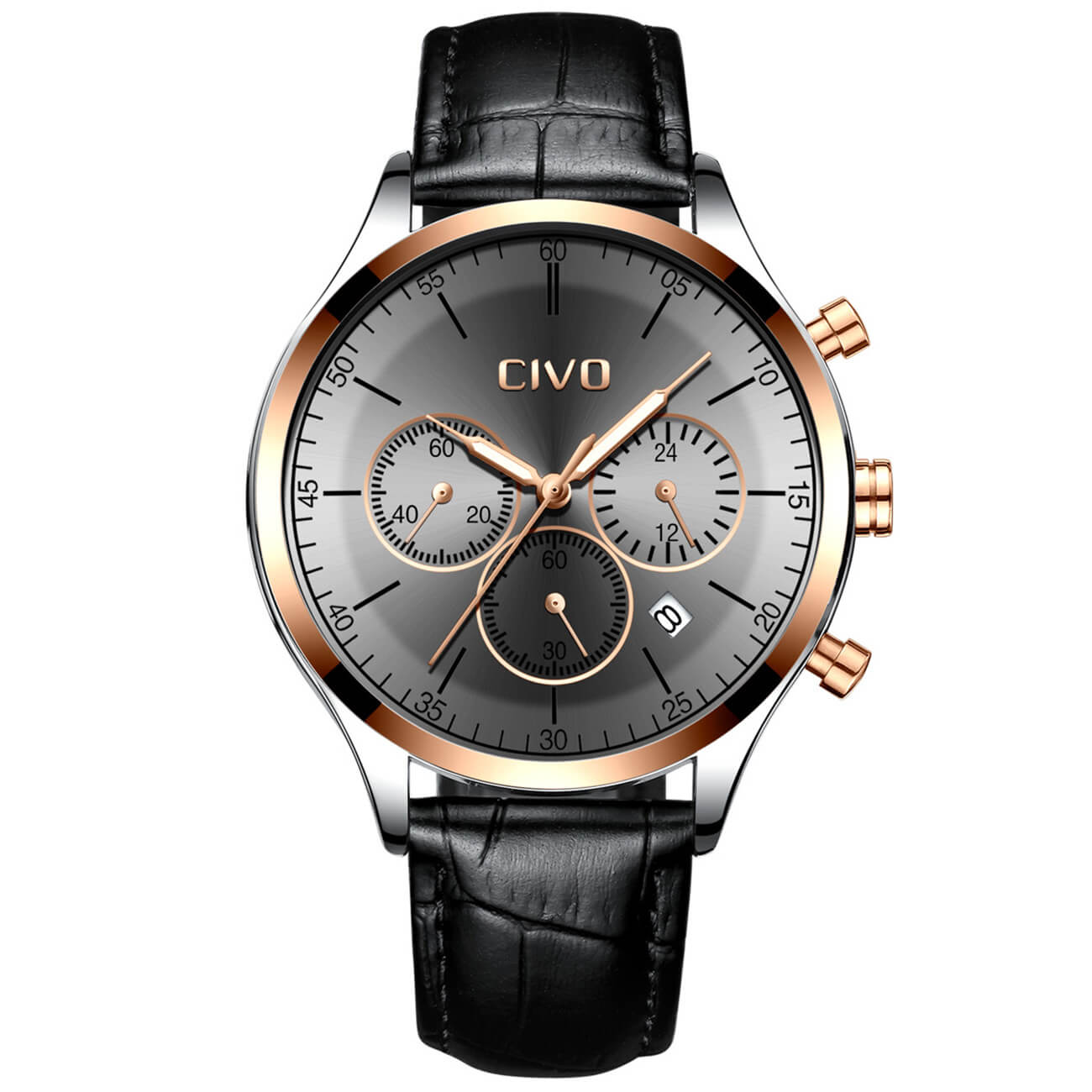 8016C | Quartz Men Watch | Leather Band