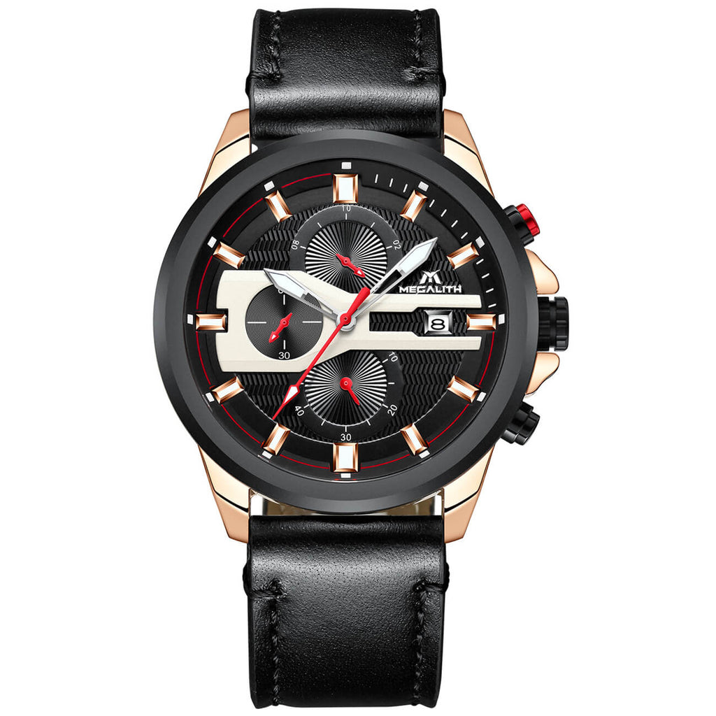 8023M | Quartz Men Watch | Leather Band-megalith watch