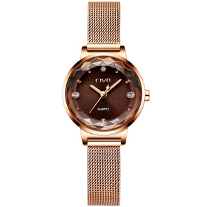 8024C | Quartz Women Watch | Mesh Band-megalith watch