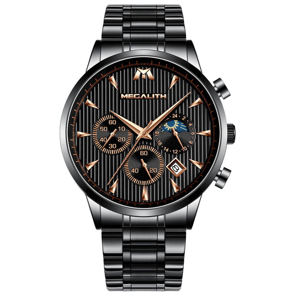 8026M | Quartz Men Watch | Stainless Steel Band-megalith watch
