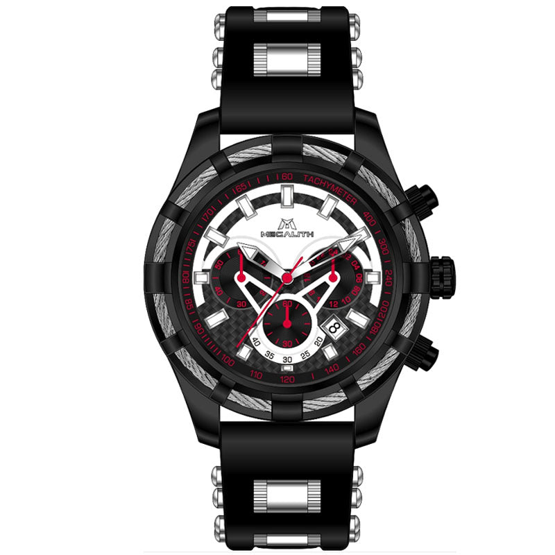 8042M | Quartz Men Watch | Rubber Band-megalith watch