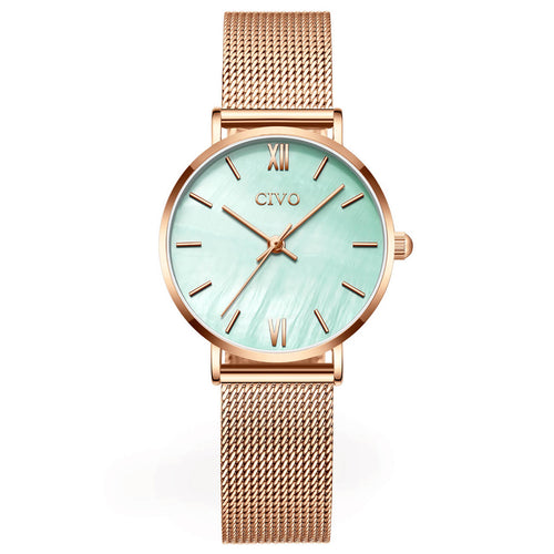 8063C | Quartz Women Watch | Mesh Band