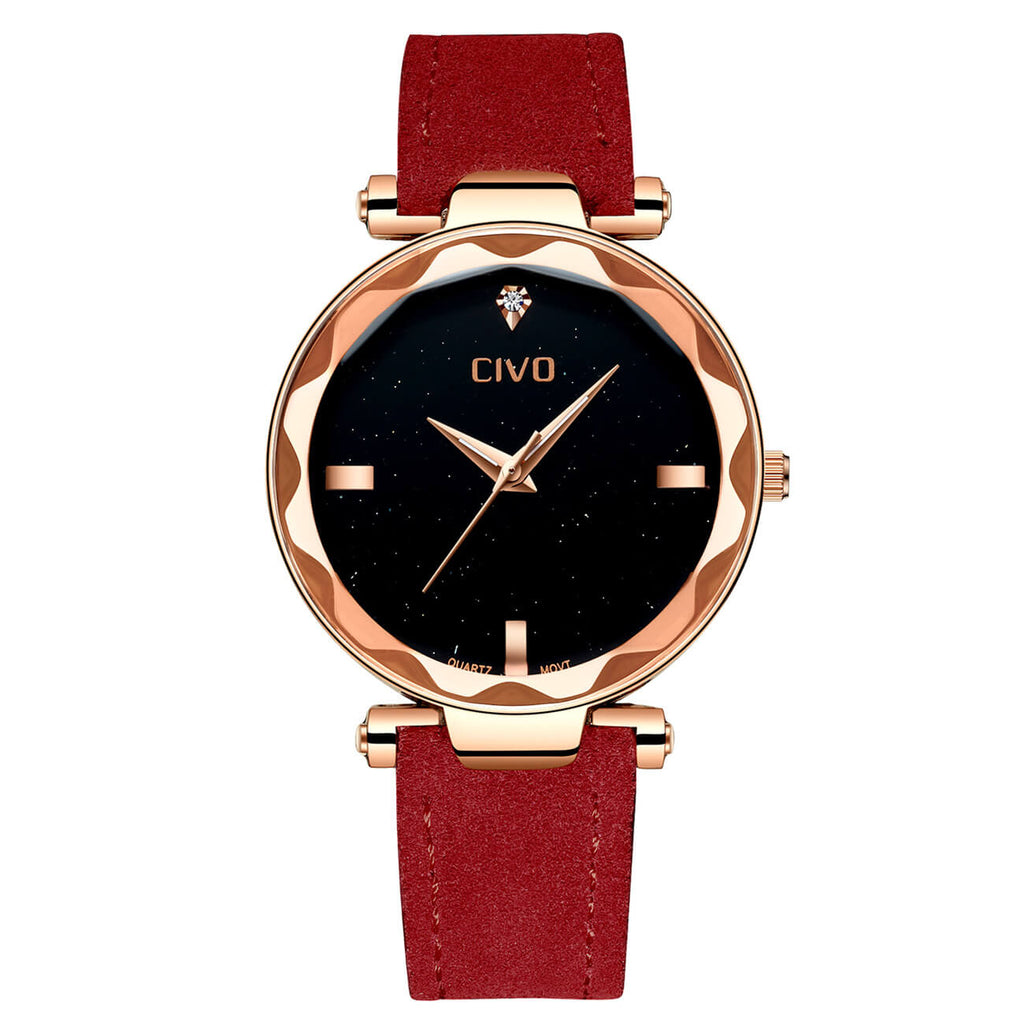 8520C | Quartz Women Watch | Leather Band-megalith watch