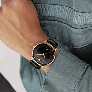8077C | Quartz Men Watch | Leather Band-megalith watch
