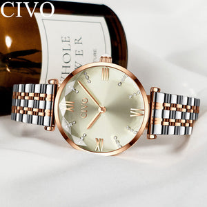 8095C | Quartz Women Watch | Stainless steel Band-megalith watch