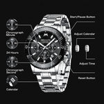 Load image into Gallery viewer, 8218M | Quartz Men Watch | Stainless Steel Band-megalith watch