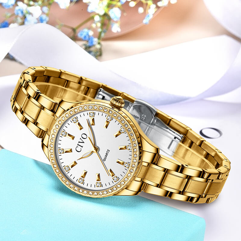 8114C | Quartz Women Watch | Stainless steel Band-megalith watch