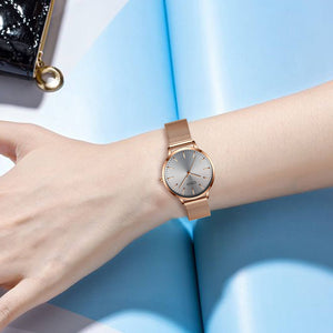 8060C | Quartz Women Watch | Mesh Band-megalith watch