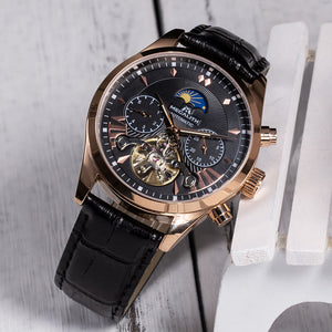 8092M | Mechanical Men Watch | Leather Band-megalith watch