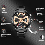 Load image into Gallery viewer, 8219M | Quartz Men Watch | Stainless Steel Band-megalith watch