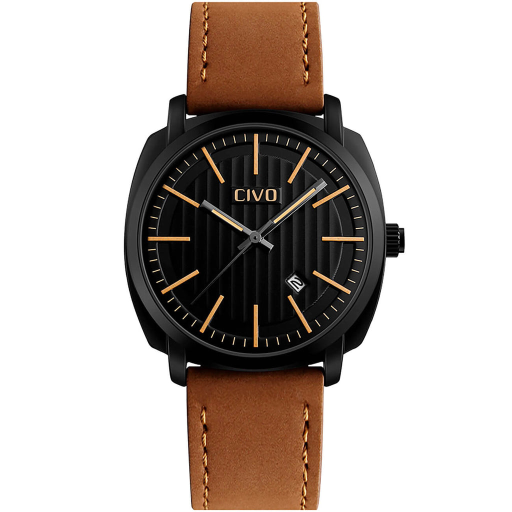 9169C | Quartz Men Watch | Leather Band-megalith watch