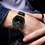 Load image into Gallery viewer, 8077C | Quartz Men Watch | Leather Band-megalith watch