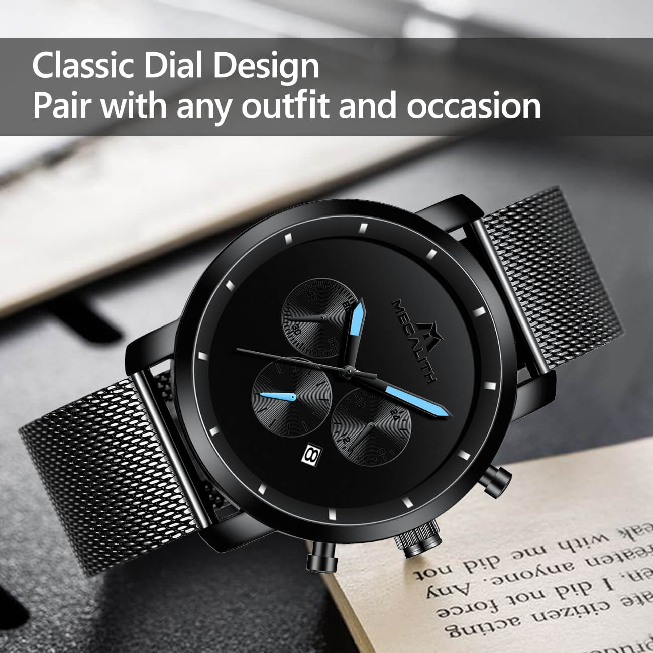 8021M | Quartz Men Watch | Mesh Band-megalith watch
