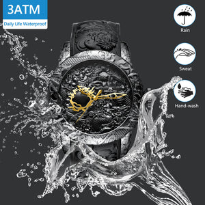 8041M | Quartz Men Watch | Rubber Band-megalith watch