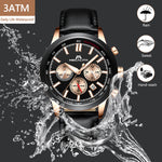 Load image into Gallery viewer, 8015M | Quartz Men Watch | Leather Band-megalith watch