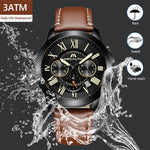 Load image into Gallery viewer, 8014M | Quartz Men Watch | Leather Band-megalith watch
