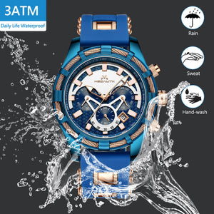 8042M | Quartz Men Watch | Rubber Band