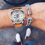 Load image into Gallery viewer, 0050M | Quartz Men Watch | Leather Band-megalith watch
