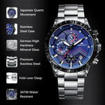 Load image into Gallery viewer, 0074M | Quartz Men Watch | Stainless Steel Band-megalith watch