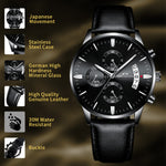 Load image into Gallery viewer, 8008M | Quartz Men Watch | Leather Band-megalith watch