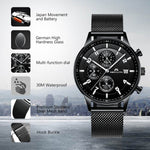 Load image into Gallery viewer, 8003M | Quartz Men Watch | Mesh Band-megalith watch