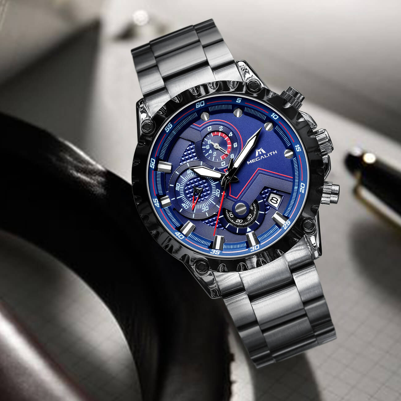 0074M | Quartz Men Watch | Stainless Steel Band-megalith watch