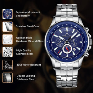 0073M | Quartz Men Watch | Stainless Steel Band-megalith watch