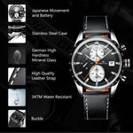 Load image into Gallery viewer, 8034M | Quartz Men Watch | Leather Band-megalith watch