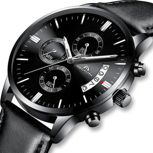 8008M | Quartz Men Watch | Leather Band-megalith watch