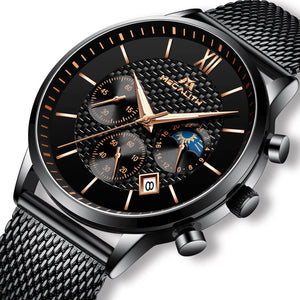8025M | Quartz Men Watch | Mesh Band-megalith watch