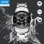 Load image into Gallery viewer, 8043M | Quartz Men Watch | Stainless Steel Band-megalith watch