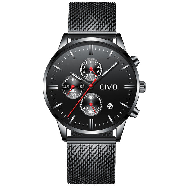 8028C | Quartz Men Watch | Mesh Band-megalith watch